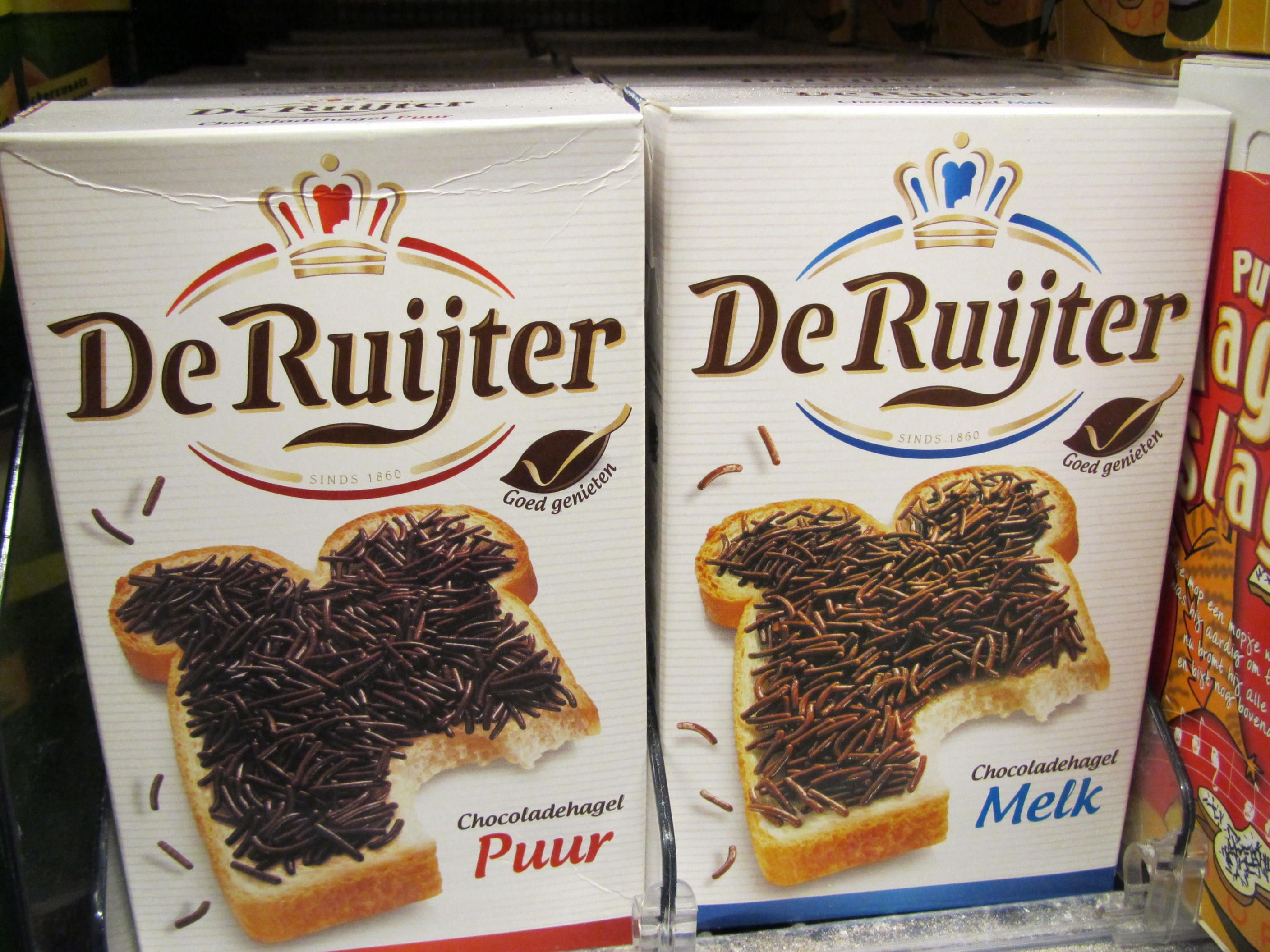 hagelslag, chocolate for on a sandwich, typical Dutch food ...