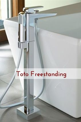 Freestanding Single Handled Tub Filler By Toto Roundup D Scoop Finds The Modern