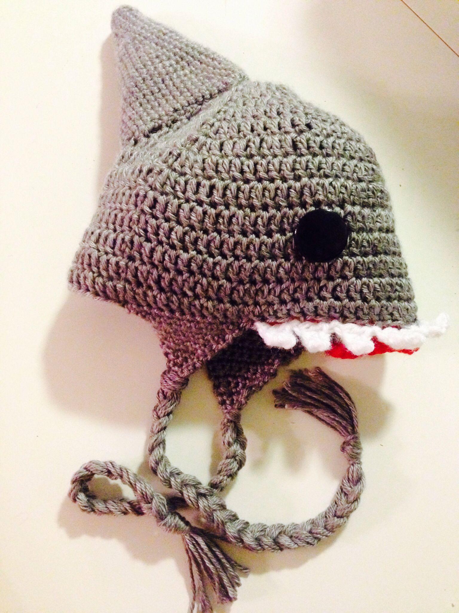 Crochet Shark Hat Pattern | Pinterest