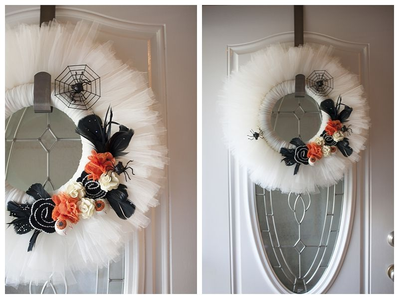 Tulle Wreath Instructions Decorating For Halloween Wreaths Tulle