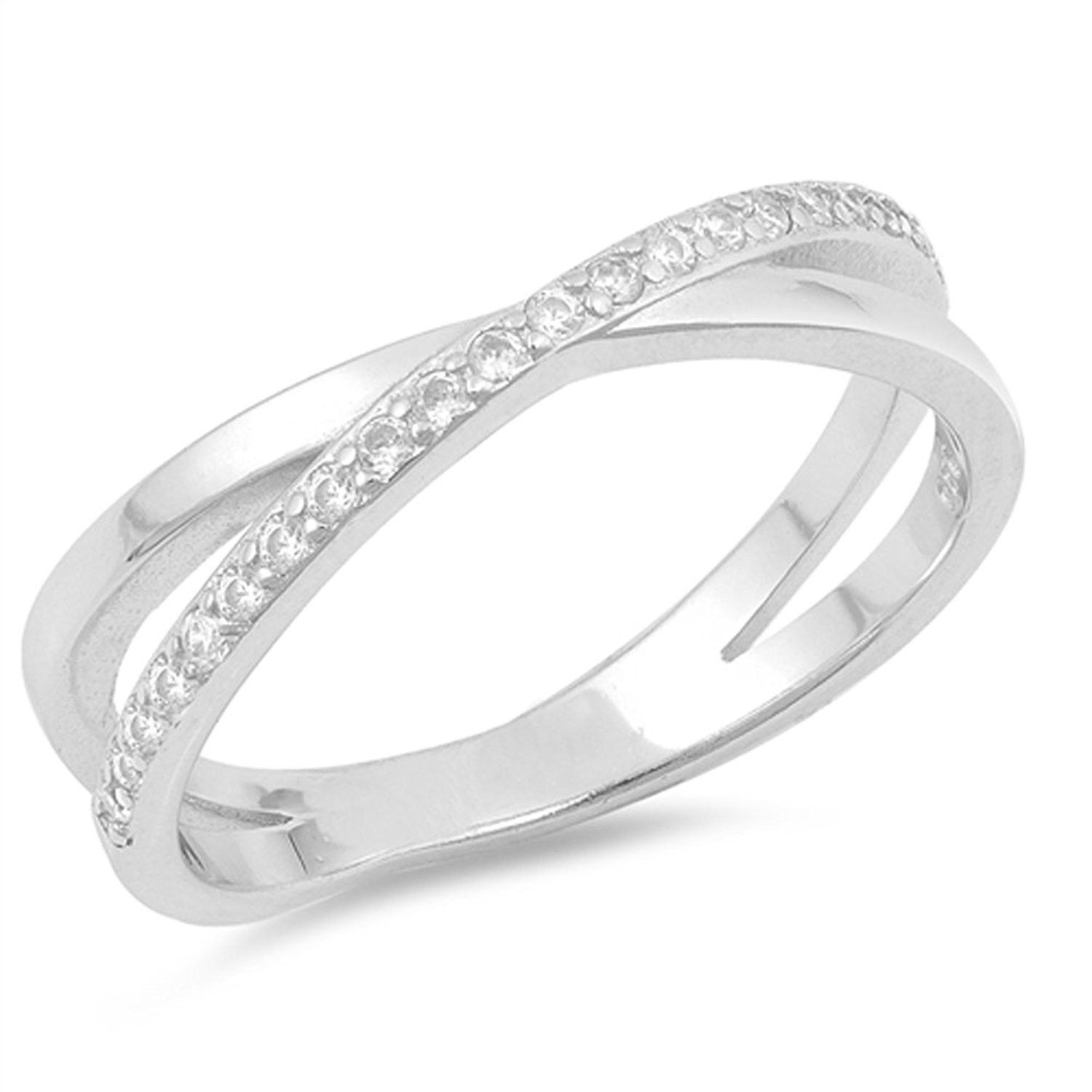 Round Infinity Knot Ring New .925 Sterling Silver Band