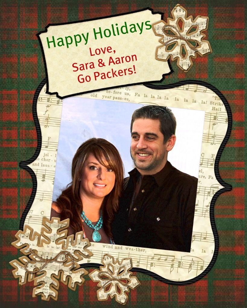 Aaron Rodgers Photobombed My Xmas Card Xmas Cards Holiday Go Packers