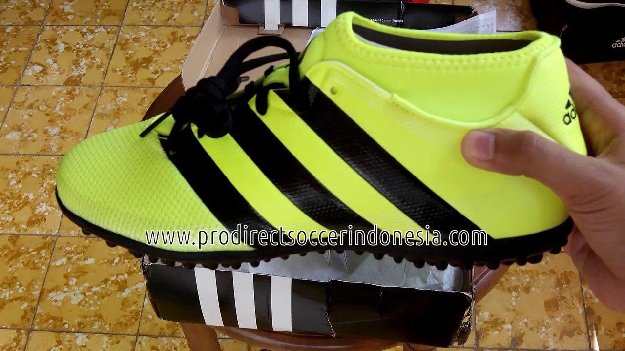 Sepatu Futsal Adidas Ace 16 3 Primemesh Tf Solar Yellow Core Black