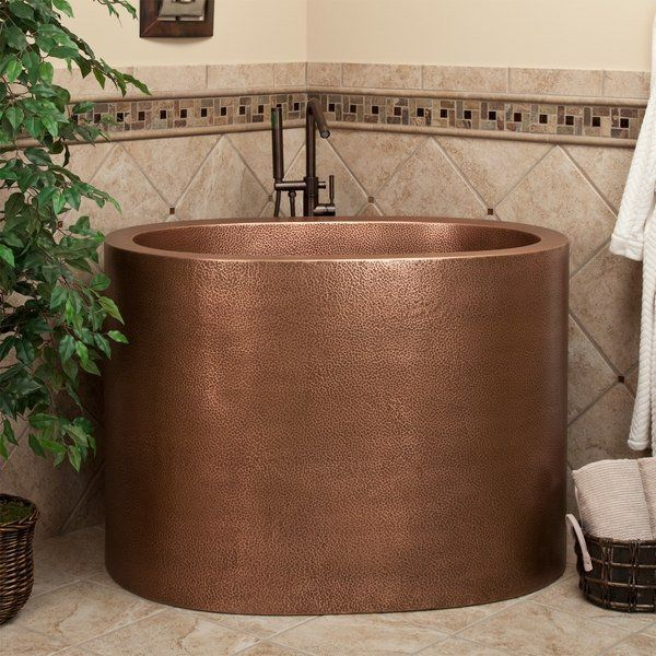 japanese soaking tubs for small bathrooms round copper tub space ...