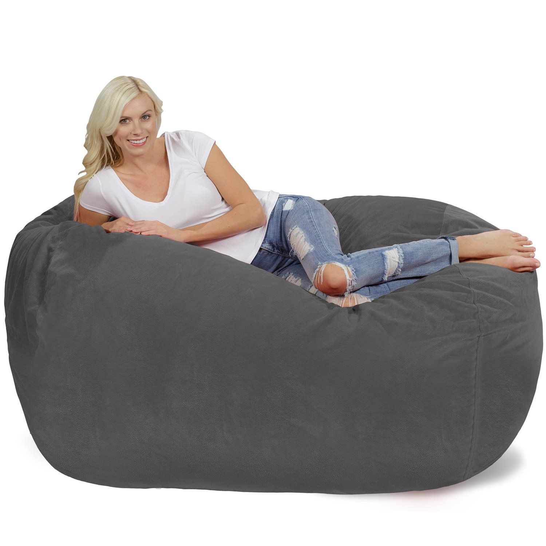 Chill Bag Bean Bags Bean Bag Lounger 6 Grey Pebble