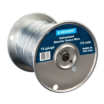 Bekaert 14 Gauge Galvanized Electric Fence Wire 1 4 Mile Spool With Images Electric Fence Wire Fence Mason Bee House