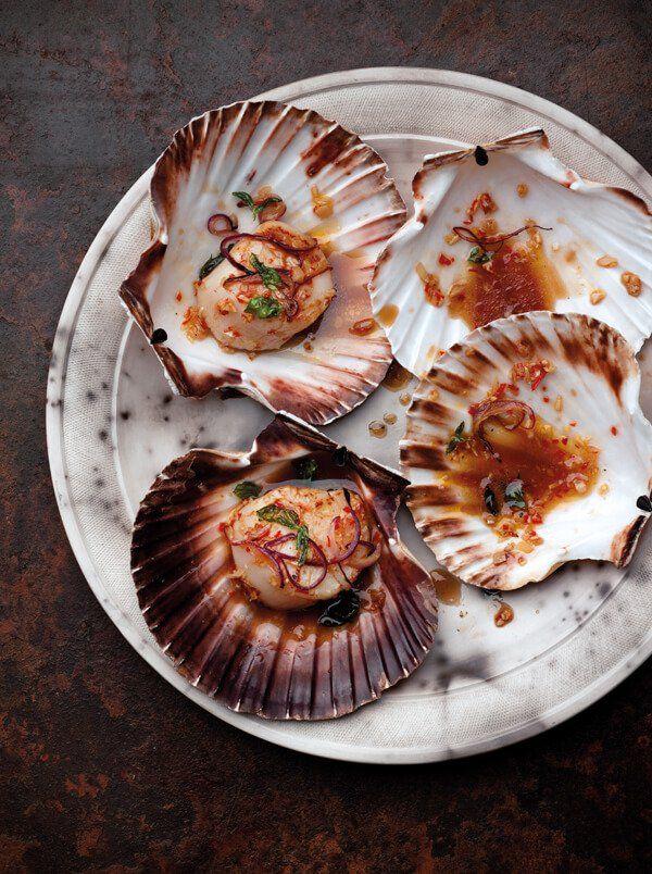 Chili And Basil Scallops Recipe Food Shellfish Recipes Scallop Recipes