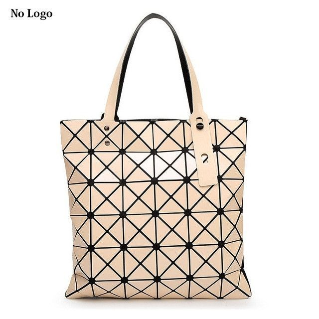 8f890732d0 Ladies Folded Geometric Plaid Bag Women Fashion Casual Tote Top-handle Bag  Shoulder Bags Bao