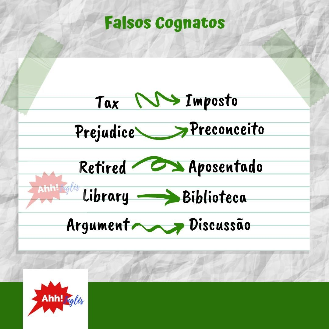False Friends Dicasdeingles Aprenderingles