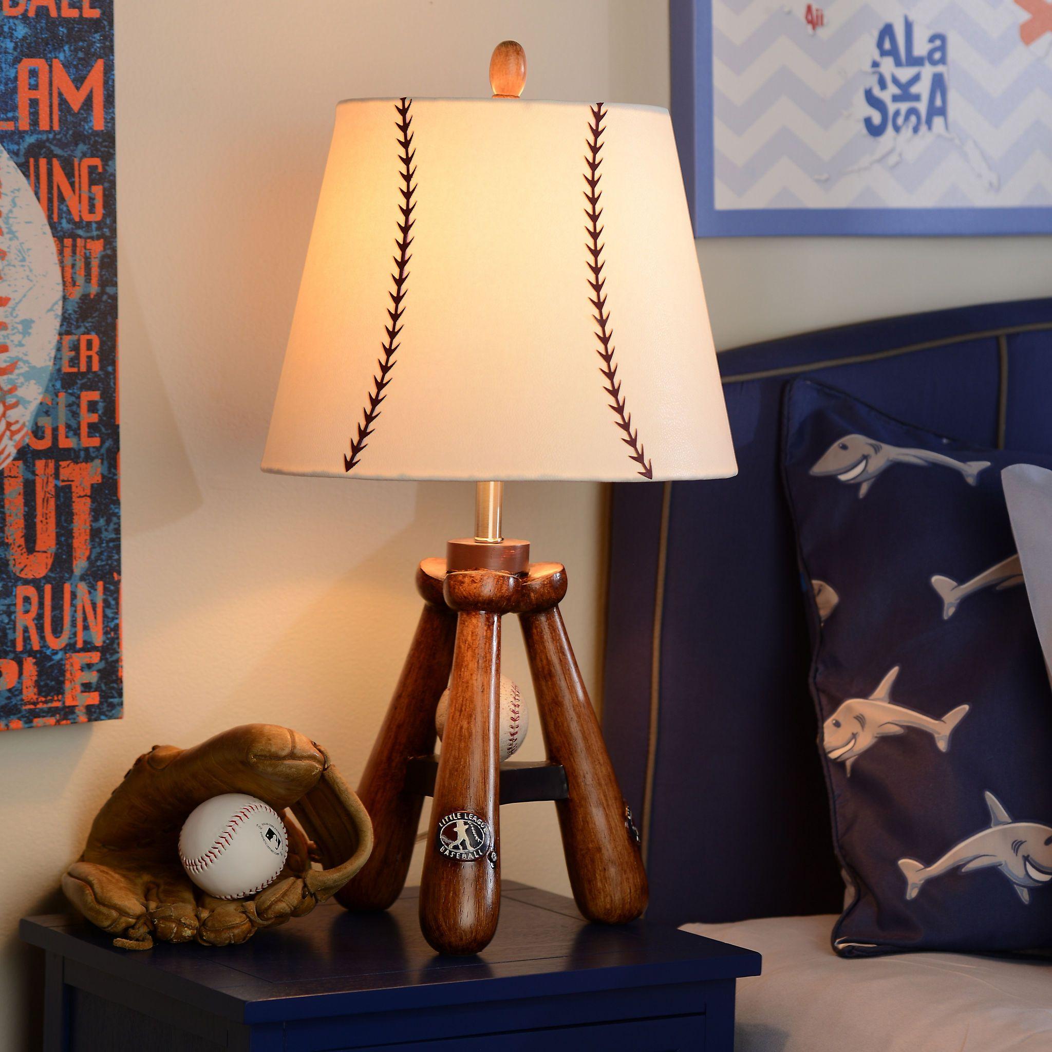 Baseball bat table lamp baseball bats bats and kids lamps baseball bat table lamp geotapseo Image collections