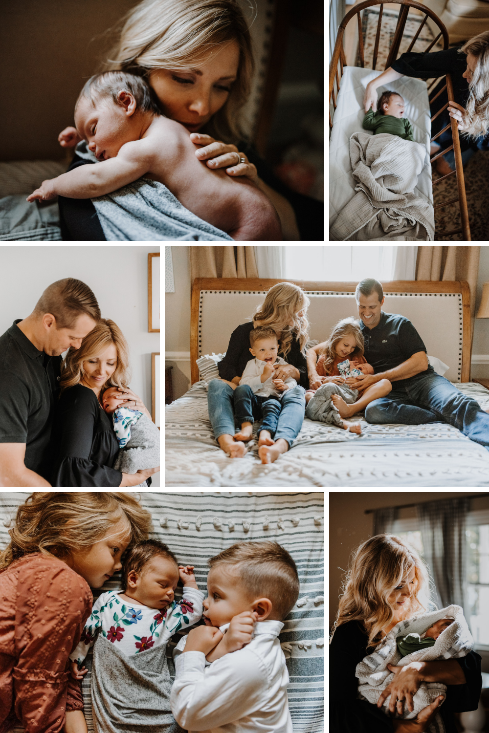 In home natural light newborn session in Lynchburg, VA - Birthstory Photography
