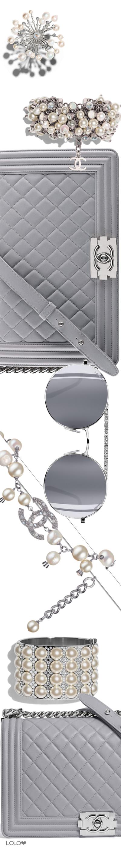 a937914e915 Chanel Fall Winter 2017 2018 Accessories Grey Purses