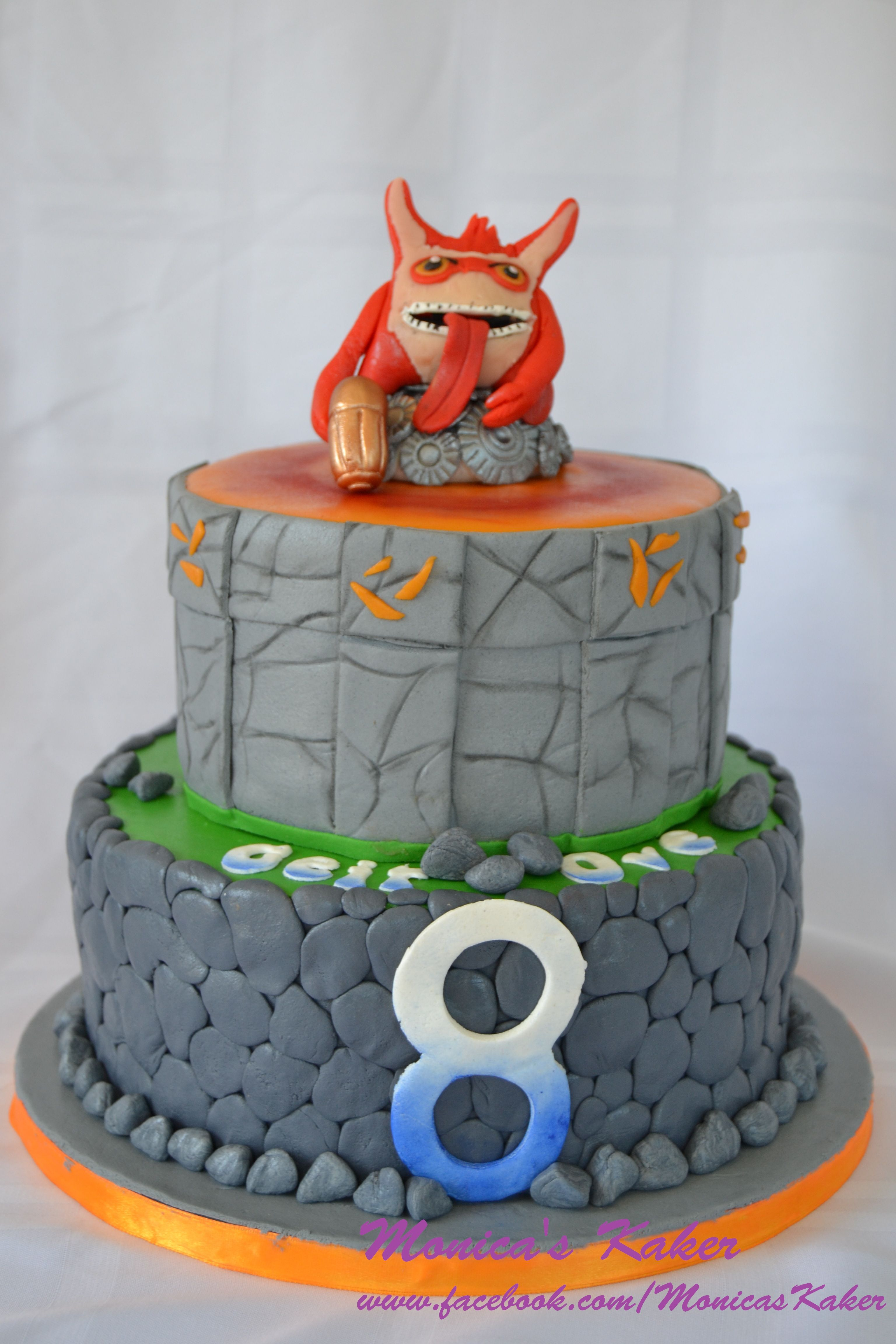 Skylander cake with Trigger Happy. Chocolate cake with ...