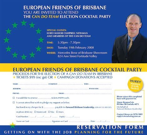 Political Fundraiser Invitations  An Invitation To A Fundraising