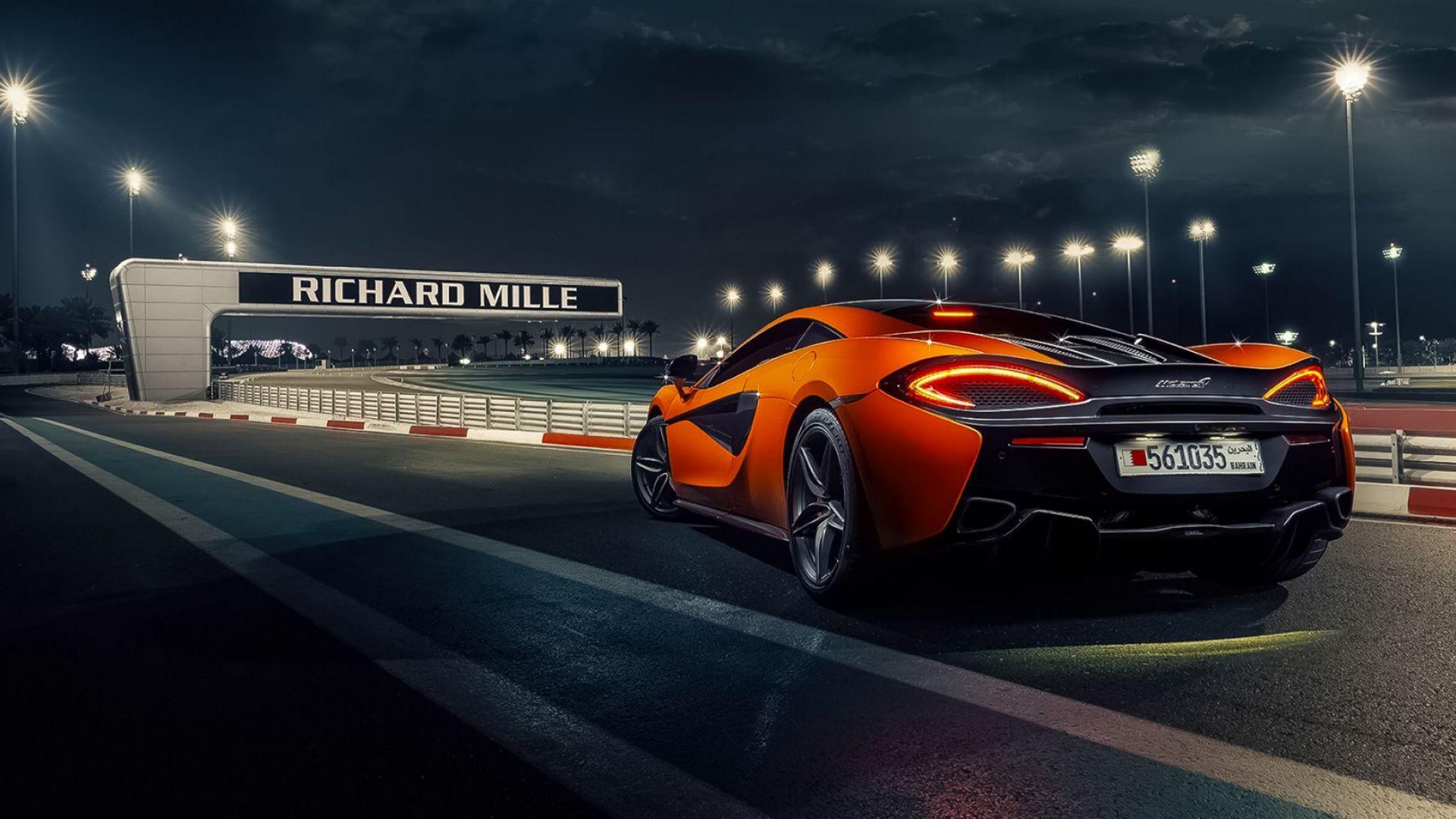 McLaren 570s Orange City Road HD Wallpaper [1920x1080