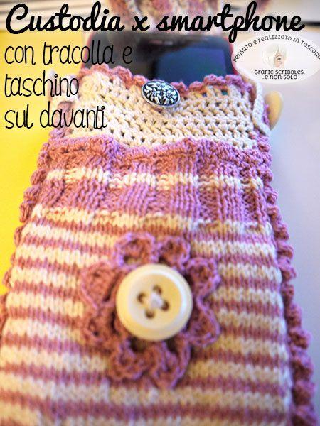 Smartphone case-Porta smartphone jacquard knit http://graficscribbles.blogspot.it/2016/03/porta-smartphone-jacquard-knit.html