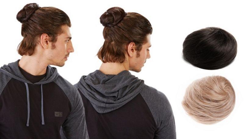 Groupon Is Selling A Clip In Manbun Man Bun Hair Pieces Bun Hairstyles