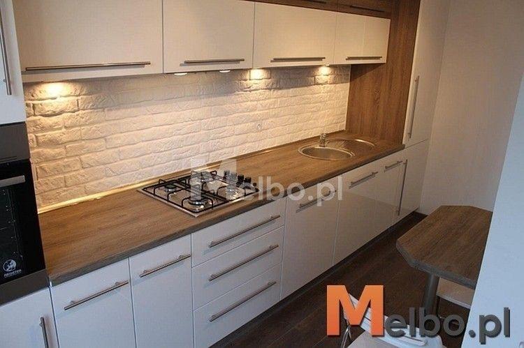 biała kuchnia drewniany blat  Szukaj w Google  Kuchnia   -> Kuchnia Dąb Ecru