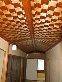 茶室 材料の 松文商店 商品のご紹介 網代 光天井 茶室 天井
