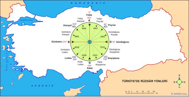 Dil Tarih Cografya Turkiye De Ruzgar Yonleri Haritasi Cografya Fiziki Cografya Temel Matematik