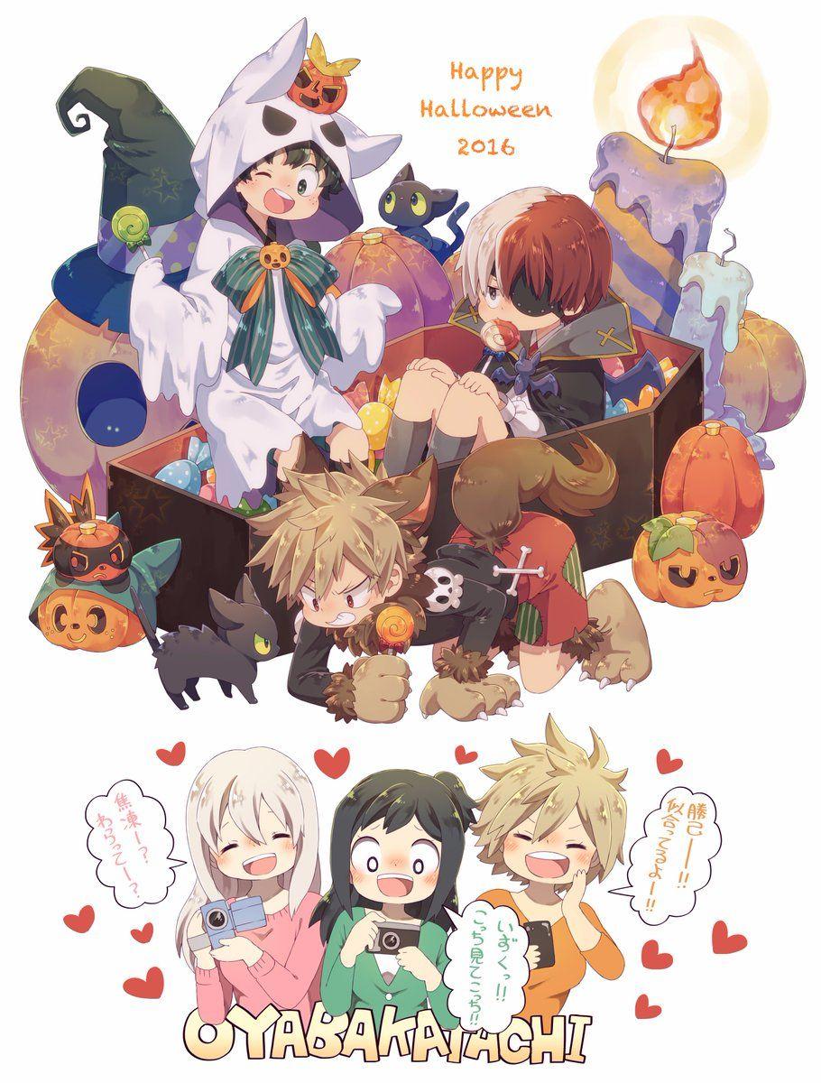 Anime My Hero Academia Halloween Izuku Midoriya Shouto Todoroki 1080p Wallpaper Hdwallpaper Desktop Anime Wallpaper Chibi Wallpaper Anime