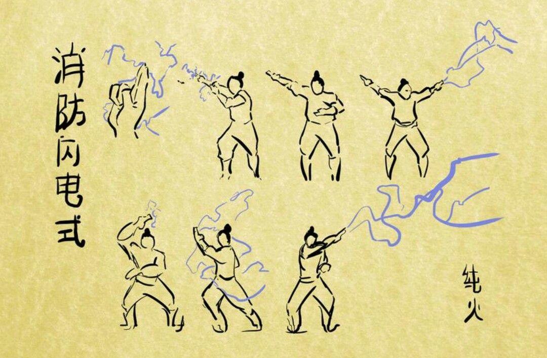 Avatar The Last Airbender Bending Movements Avatar Bending Scroll Avatar Poster air bending Avatar Print Water bending