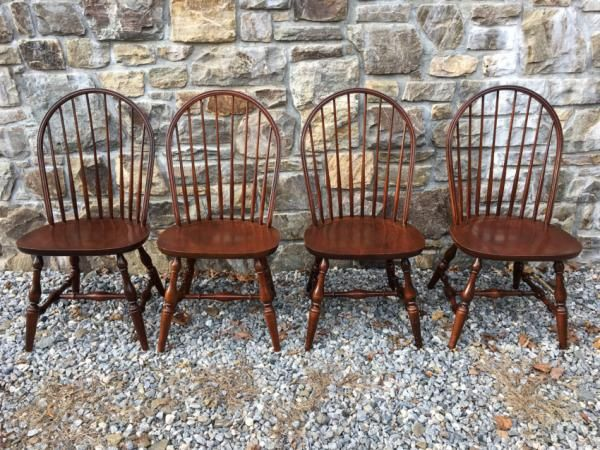 Set Of 4 Hitchcock Bow Back Windsor Style Chairs Windsor Style Chairs Chair Windsor Chair