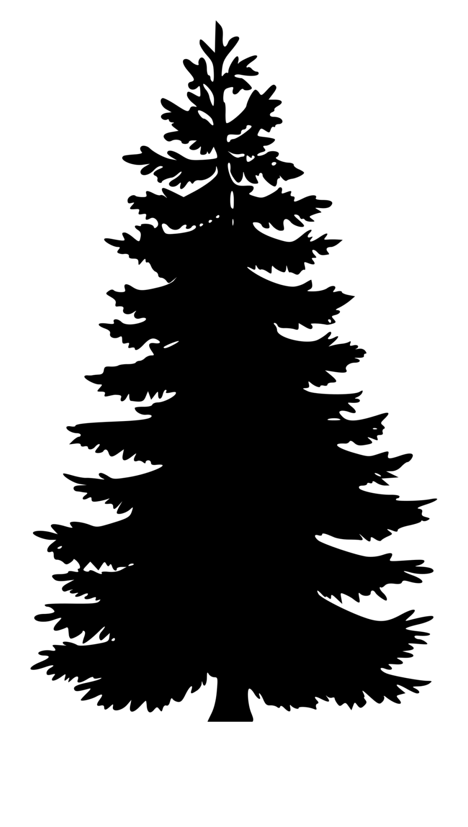 Christmas Tree Png Trick Silhouette Clip Art Free Clip Art Pine Tree Silhouette