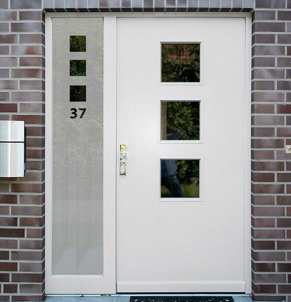 Sichtschutz für Türen Seitenteile Quadrate | Haus_Eingang ...