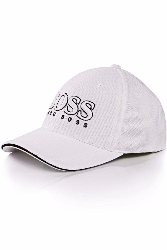 93c069c3500 HUGO BOSS Men s Cap US White Pique 3-D Logo Baseball Cap One Size  HUGOBOSS   BaseballCap