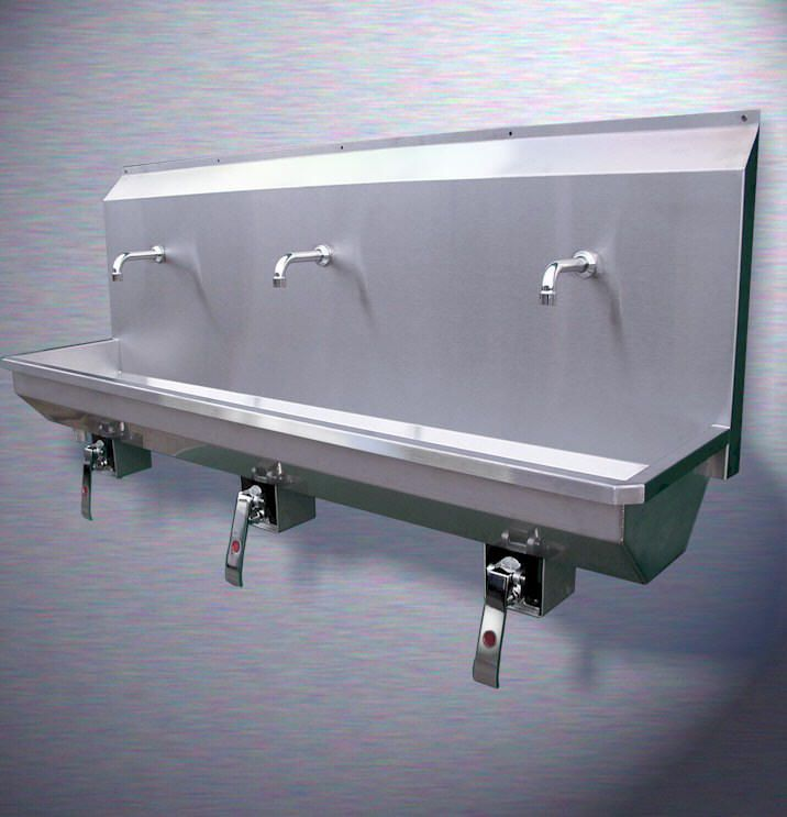 Wall Mounted Stainless Steel Metal Trough Sink Trough Sink Wall