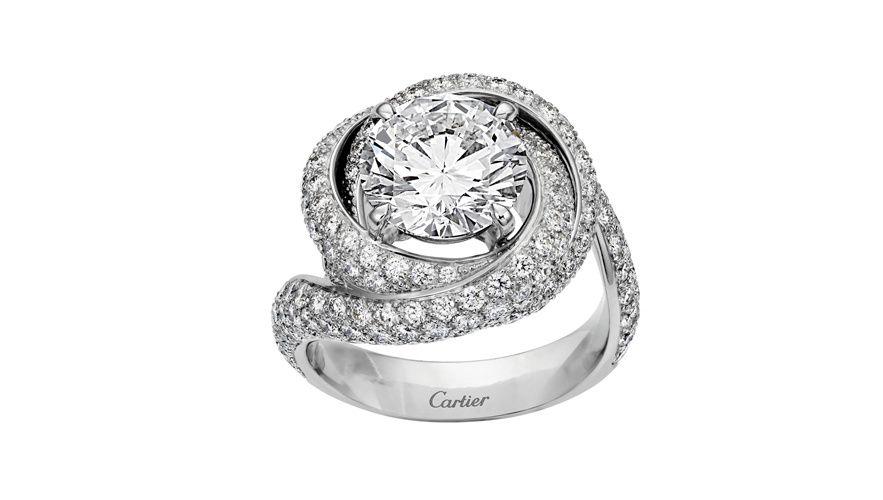 bague solitaire diamant cartier prix