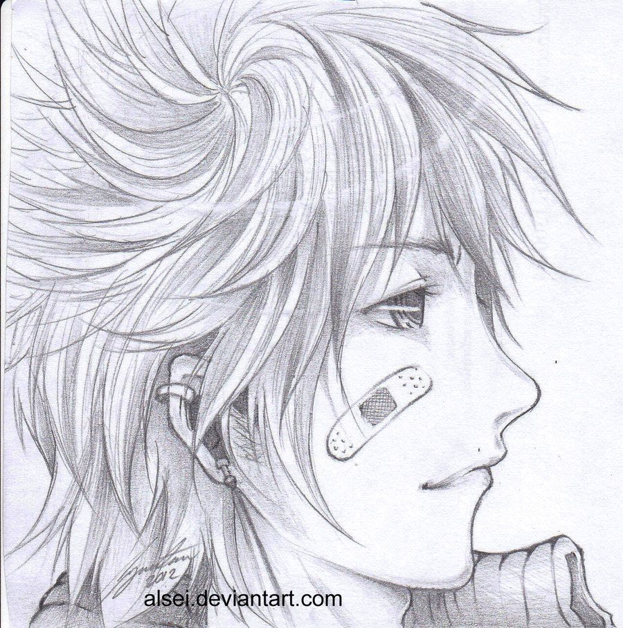 Image result for anime boy side view Anime boy hair, How