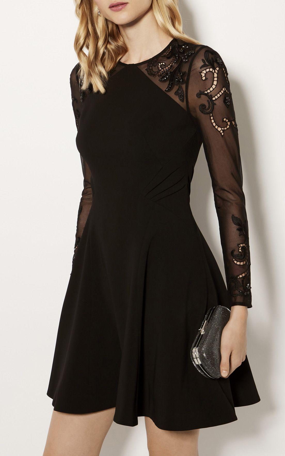 Karen Millen Embellished Sleeve Dress Black Cocktail Dresses With Sleeves Black Dress With Sleeves Formal Dresses With Sleeves [ 1767 x 1104 Pixel ]