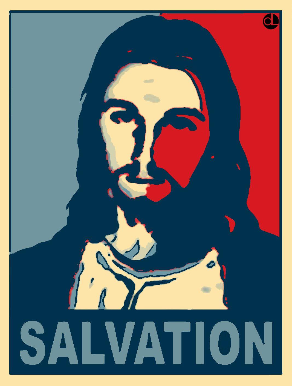 salvation jesus obama style poster faithwork apparel pinterest