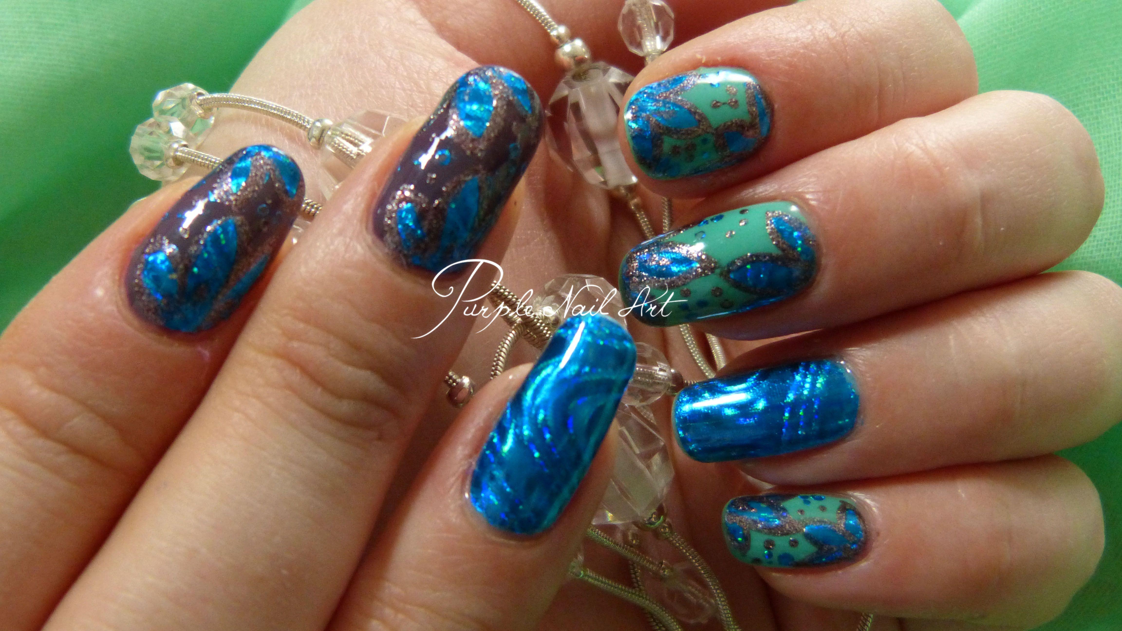 Nail art Foils et vernis Ruby Wing