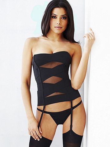 e2992ba02 Cross Banded   Sheer Mesh Corset from Frederick s of Hollywood!  56   corsets  lingerie