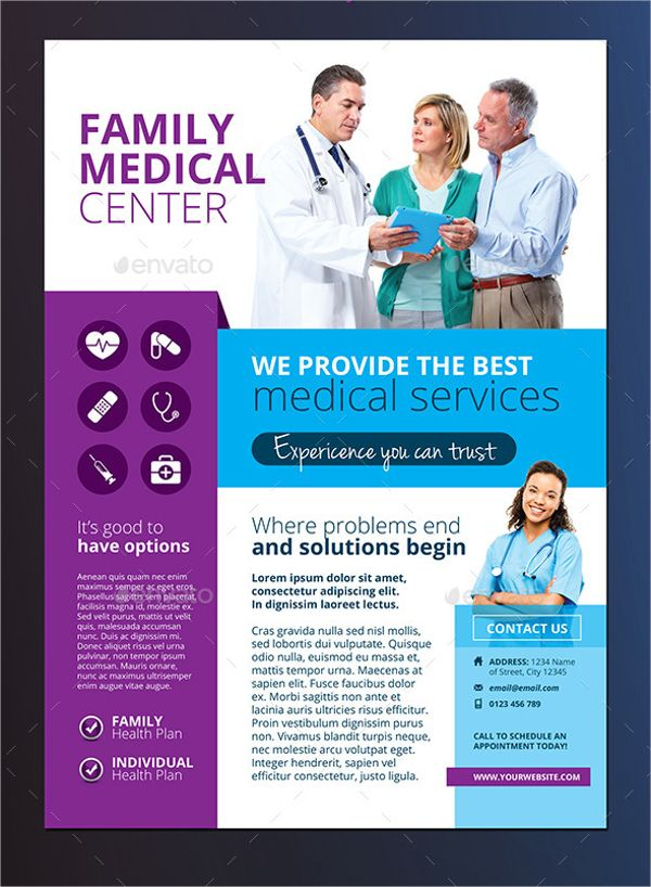Family Medical Center Flyer   Template Joomla et Indesign