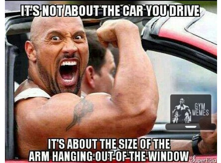Workout Motivation Meme Funny : Which means dwayne the rock johnson drives an awesome car no matter