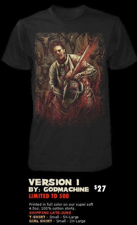 Cool Horror Gear: Awesome Leatherface shirts from Fright