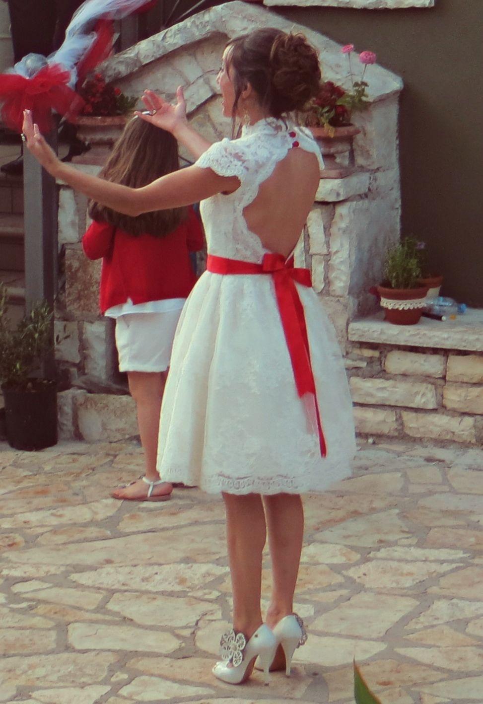 Pin By Monica On Wedding Ideas Short Wedding Dress Red Wedding Dresses Country Wedding Dresses