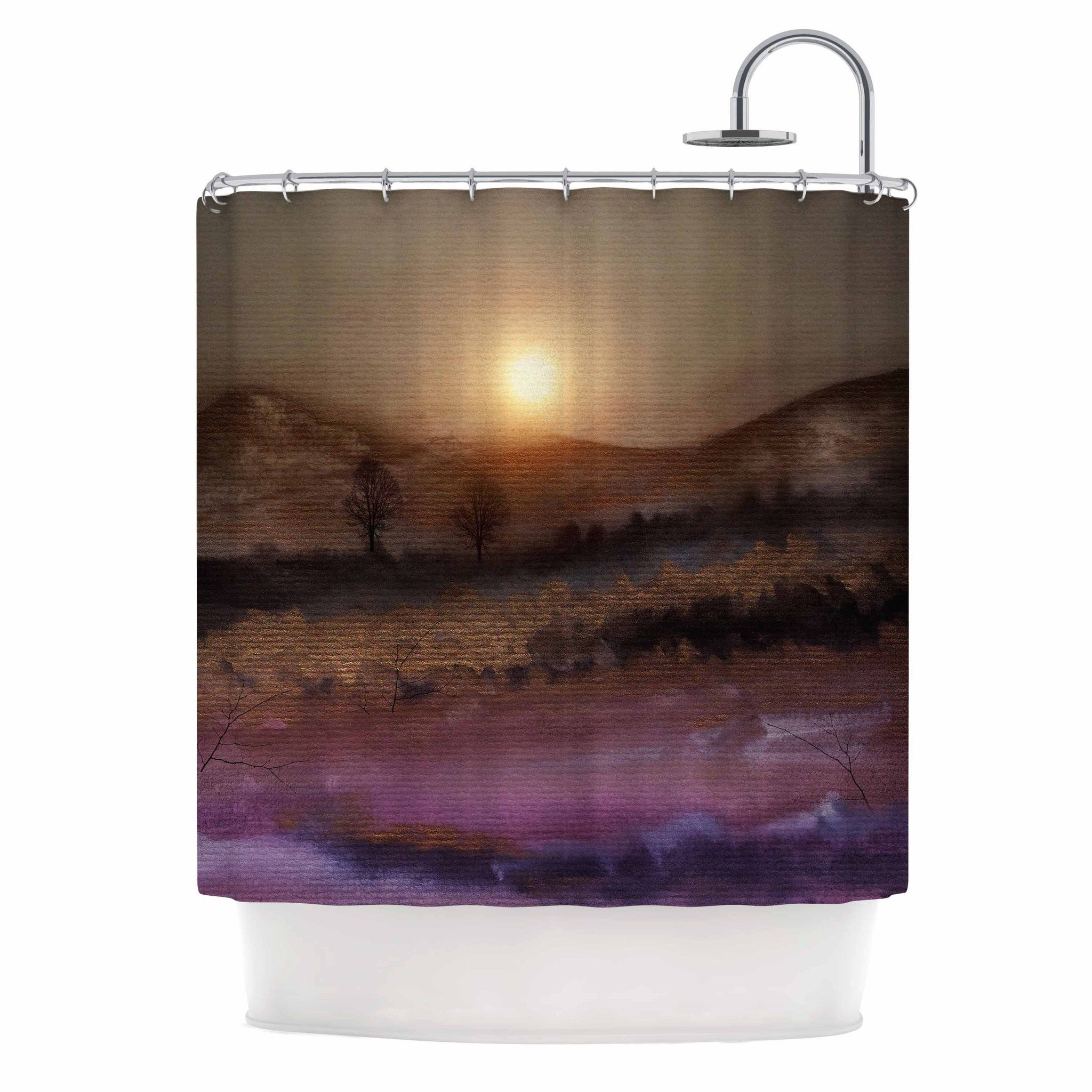 Viviana Gonzalez Calling The Sun V Purple Brown Shower Curtain