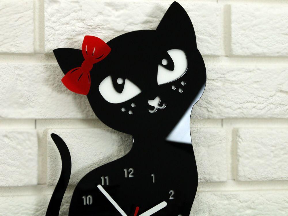 Zegar Scienny Kotek Do Pokoju Dziecka Piekny Cyfry Clock Etsy Minnie