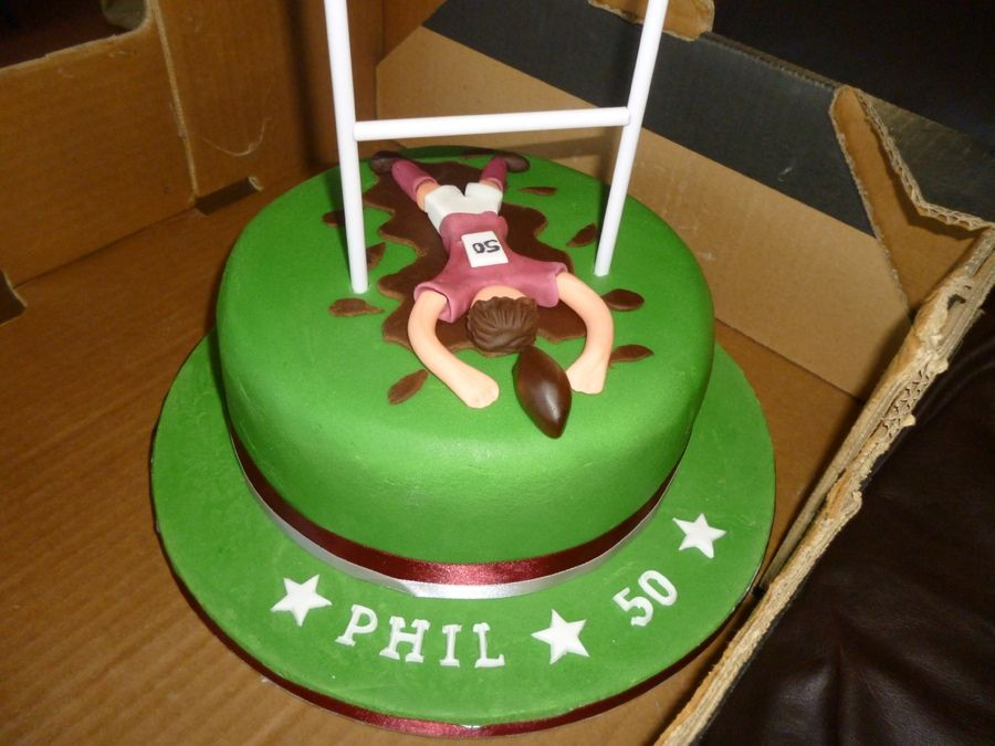 rugby themed cake - Google Search sport themes Pinterest