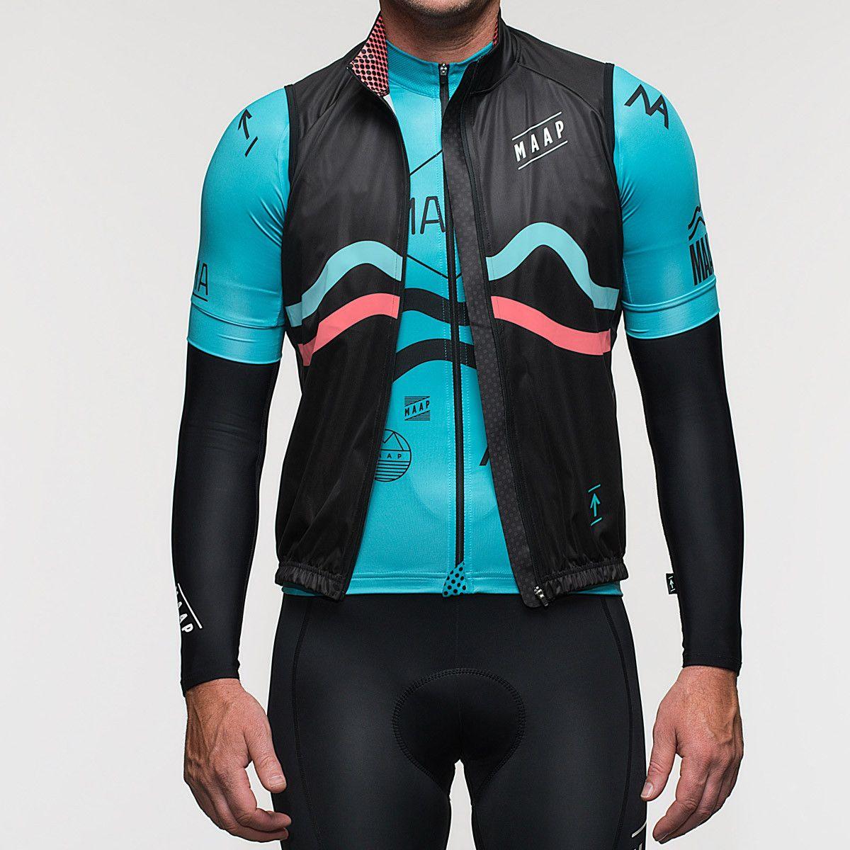 M.A Vest Black/Aqua/Coral