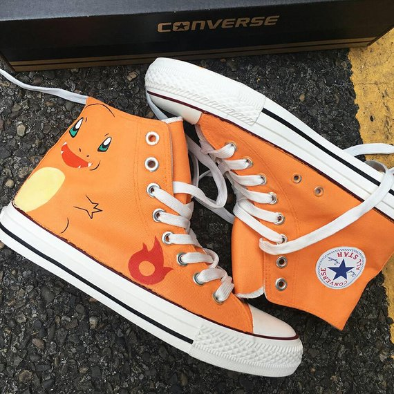 d4935d1b251f4 Custom Painted Anime Pokemon Converse, Personalized Handpainted ...
