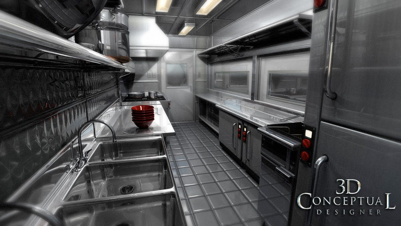 Inside food truck layout 3dconceptualdesignerblog for Food truck interior design