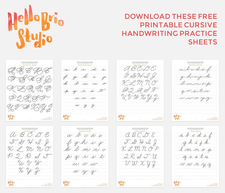 Discover your hand lettering style with cursive | Schrift ...