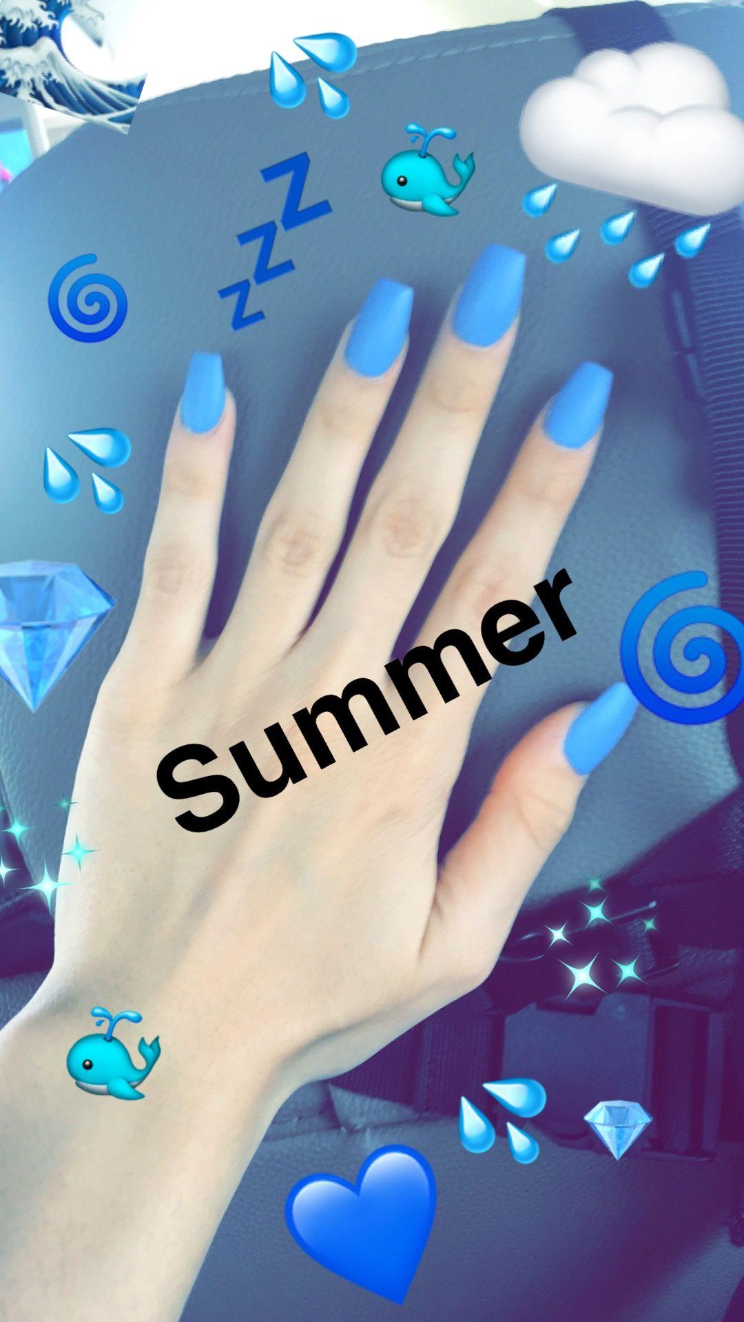 nails tumblr nails Snapchat nails Acrylic nails Blue nails | Me ...