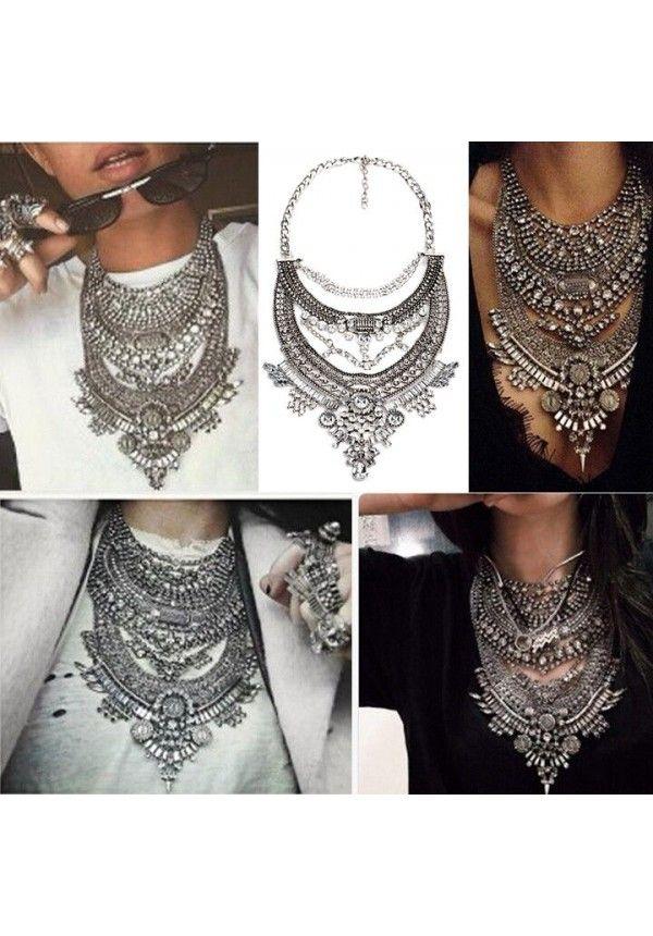 728f758579df Collar ZA collares Vintage Crystal Maxi gargantilla Collier Femme Boho  grandes diferentes modelos